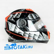 Шлем BLD160 (черно-красный, размер XS, НО реально 56-57, модуляр)