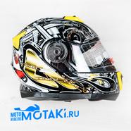 Шлем BLD160 (черно-желтый, размер XS, НО реально 56-57, модуляр)