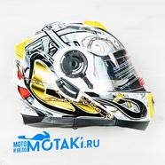 Шлем BLD160 (бело-желтый, размер XS, НО реально 56-57, модуляр)