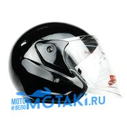 Шлем BLD 286 (черный ГЛЯНЕЦ, размер S, НО реально 57-58, открытый)