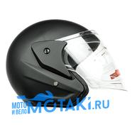 Шлем BLD 286 (черный МАТОВЫЙ, размер S, НО реально 57-58, открытый)