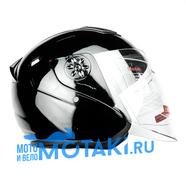 Шлем BLD 287 (черный ГЛЯНЕЦ, размер S, НО реально 58-59, открытый)