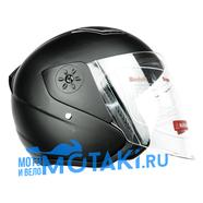 Шлем BLD 287 (черный МАТОВЫЙ, размер S, НО реально 58-59, открытый)