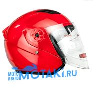 Шлем BLD 287 (КРАСНЫЙ, размер S, НО реально 58-59, открытый)