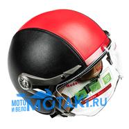 Шлем BLD 288 (ЧЕРНО-КРАСНЫЙ, размер S, НО реально 57-58, открытый)