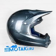 Шлем BLD819A (цвет карбон, размер XS, НО реально 56-57, кросс)