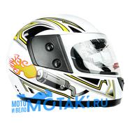 Шлем BLD825 (белый ГЛЯНЕЦ, размер XS, НО реально 60-61, интеграл)