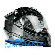 Шлем BLD 999 (ЧЕРНО-СЕРЫЙ, 2 ВИЗОРА, размер S, НО реально 57-58, интеграл)