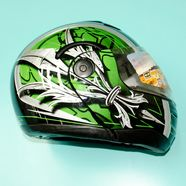 Шлем Safelead HF-108/LX-508 (черно-зеленый, размер L 59-60, модуляр)