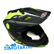 Шлем HIZER J6801 (серый лайм #1, размер L, НО реально 58-59, кросс)