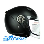 Шлем HIZER 219 (черный матовый, размер S-M-L, НО реально 59-60, открытый)