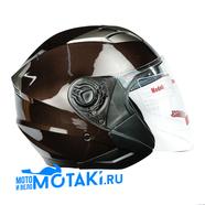 Шлем HIZER B208 (коричневый металлик, 2 ВИЗОРА, размер L, открытый)