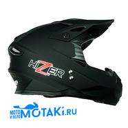 Шлем HIZER J6801 (черный матовый #3, размер L, кросс)