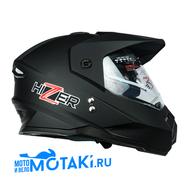 Шлем HIZER J6802 (черный матовый, 2 ВИЗОРА, размер L, кросс)