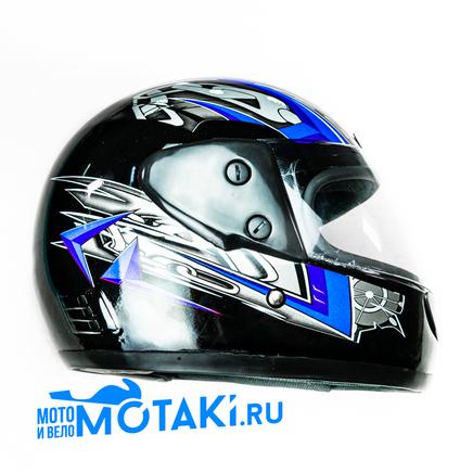 Шлем Safelead LX-101 (черный Q19BQ29, размер S НО реально 58, интеграл)
