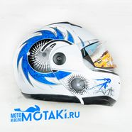 Шлем Safelead HF-108/LX-508 (сине-белый, размер L 59-60 НО реально 60-61, модуляр)