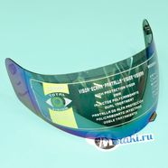 Стекло шлема YEMA YM-802 (зеркальное, мелкие зубчики)