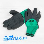 Перчатки нейлоновые с латексным покрытием (300#)