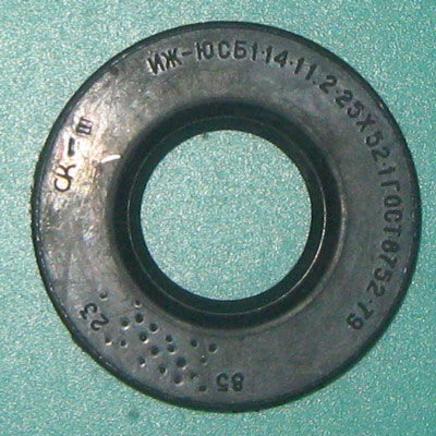 Сальник коленвала Иж Юпитер (1 пружина, СБ 1-14-1 1.2-25 х 52-1, 52 х 24.3 х 6 мм.)