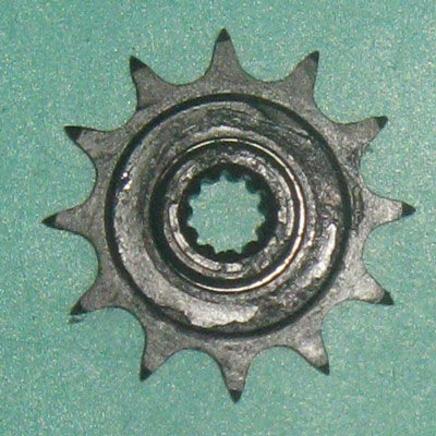 Звезда ведущая мопед 2-ск. (12 зубов, d10 мм., 11 шлиц, ПР12.7-18.2-1, Китай)