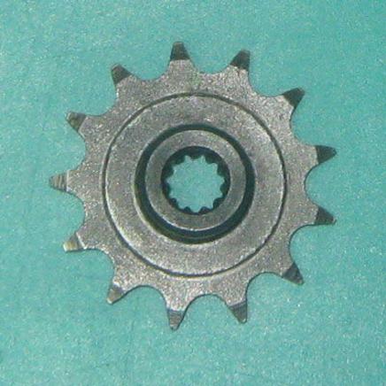 Звезда ведущая мопед 2-ск. (13 зубов, d10 мм., 11 шлиц, ПР12.7-18.2-1, Китай)