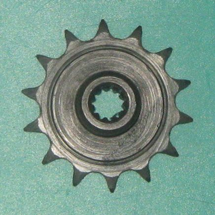 Звезда ведущая мопед 2-ск. (14 зубов, d12 мм., 11 шлиц, ПР12.7-18.2-1, Китай)