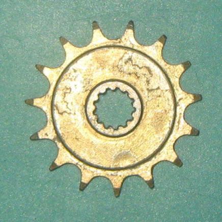 Звезда ведущая мопед 2-ск. (15 зубов, d12 мм., 13 шлиц, ПР12.7-18.2-1, Китай)