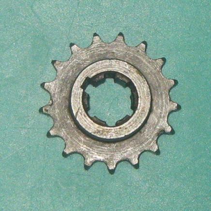 Звезда моторная Муравей (17 зубов, под шлицы, коленвала нового образца)