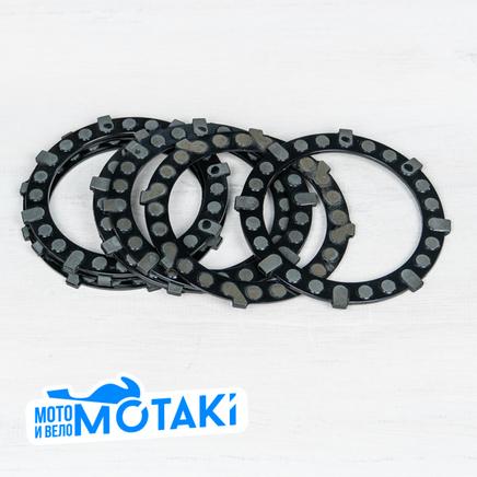 Диски сцепления Иж (7 шт., текстолит, стандартные шлицы, Китай)
