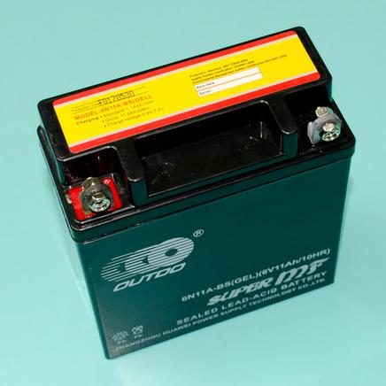 Аккумулятор Ява, Иж 6В 11Ач (121 х 58 х 130 мм., гелевый 6N11A-BS GEL OUTDO)