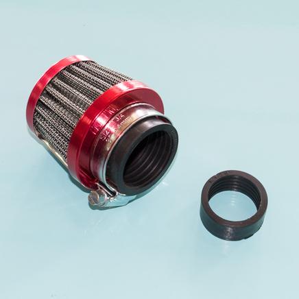 Фильтр 0 нулевого сопротивления d28-35 мм. Dio, К60В (конус малый 68 х 61 мм., переходник)