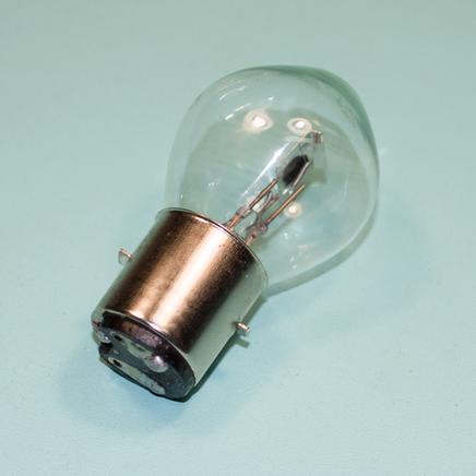 Лампа 12В 35/35W BA20d в фару Ява, скутер, Альфа, TTR125 (не галогеновая)