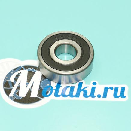Подшипник 180303 / 6303 2RS коленвала Минск, Крот, КПП Ява-350 (закрытый резиной, Китай)