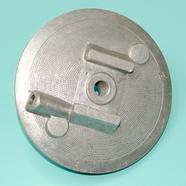 Крышка тормозного барабана мопед 2-ск. (опора колодок)