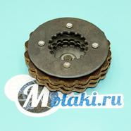 Ремкомплект сцепления мопед 2-ск. Карпаты (столик, пятачок, диски КРУГЛЫЕ)
