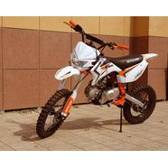 Питбайк XR125 Motoland (колеса 17/14, фара, стартер, бело-оранжевый)
