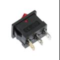 Выключатель клавишный с подсветкой (квадратный красный 20 х 15 х 25 мм.)