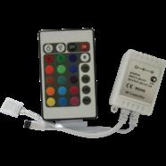 Контроллер светодиодной RGB-ленты 12В 144Вт 12А (с ИК пультом управления)