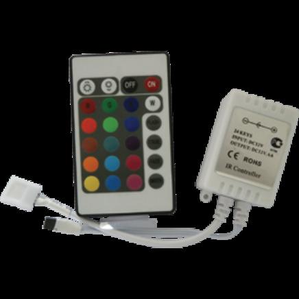 Контроллер светодиодной RGB-ленты 12В 72Вт 6А (с ИК пультом управления)