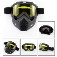 Очки защитные с маской Moto (желтое стекло, маска-фильтр снимается)