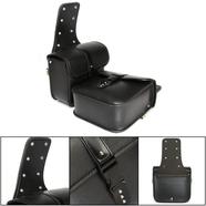 Сумки багажные на седло мото (черный кожзам 264 x 260 x 115 мм.)