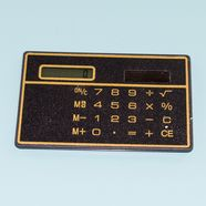 Калькулятор визитка кредитка (на солнечной батарее, черный)