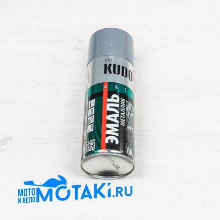 Эмаль универсальная МЕТАЛЛИК ХРОМ (KUDO KU-1101, краска в баллоне 520 мл.)