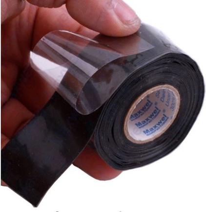 Лента-герметик (300 х 25 мм., силиконовая самовулканизирующаяся, ЧЕРНАЯ)