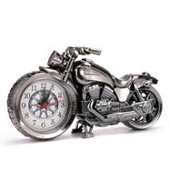Часы настольные в виде мотоцикла (цвет металлик, 230 x 130 мм.)
