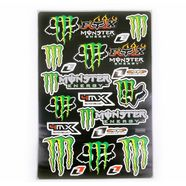 Наклейки MONSTER ENERGY/FOX 5989M (винил, 300 х 450 мм., 19 шт.)