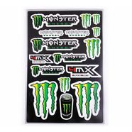 Наклейки MONSTER ENERGY 5989E (винил, 300 х 450 мм., 16 шт.)