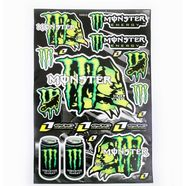 Наклейки MONSTER ENERGY 5990G (винил, 300 х 450 мм., 19 шт.)
