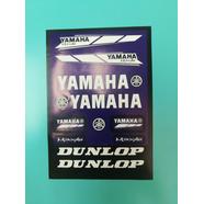 Наклейки Ямаха DUNLOP (винил, 220 х 330 мм., 11 шт. фиолетовые)