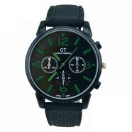 Часы Grand Touring тип1 (черно-зеленые, стекло, сталь)